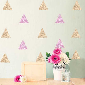 Pink and Gold Triangles