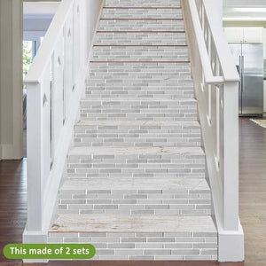 Classic Grey Bricks Decorative Strips 21*100cm x7 strips