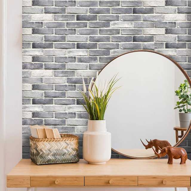 Grey Bricks Decorative Strip 21*100cm X7 strips