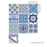 Blue Tiles Sticker 20x20cm x10pcs