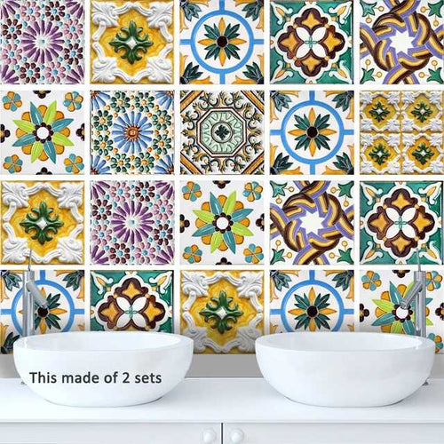 Porto Traditional Tile Sticker 20x20cm X 10pcs