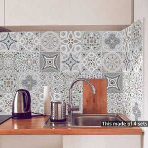 Moroccan Design Tiles Sticker 20*20cm X 10pcs
