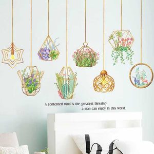 Hanging Lamps and Plants