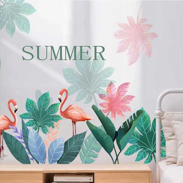 Summer Maple Leaf Flamingo