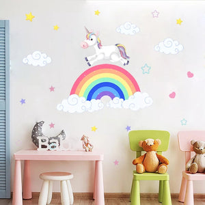 Unicorn, Rainbow & Clouds