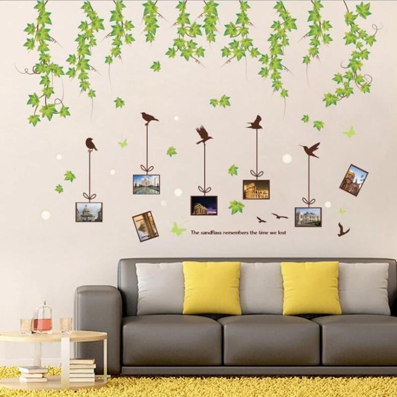 Hanging Leaves with Frames