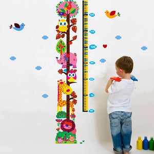 Colorful Animals Growth Chart