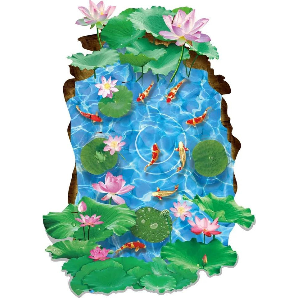 3D Floor Sticker - Water Lily
