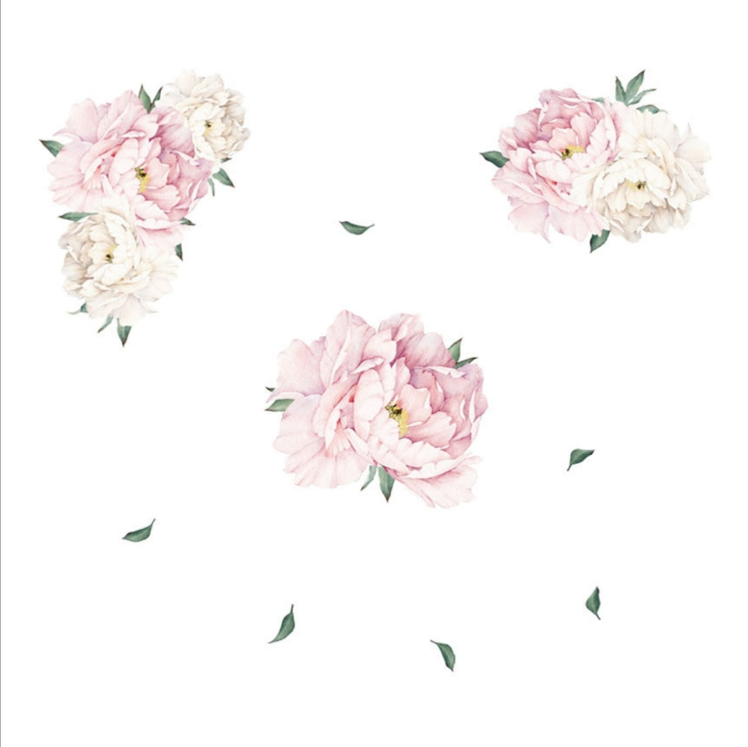 White & Pink Peony Flowers
