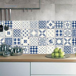 Blue and White Tiles 10*10cm x20pcs