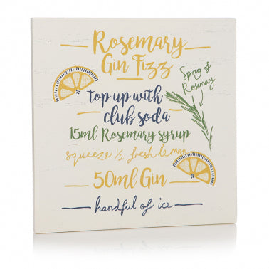 Rosemary Gin Cocktail Coaster | Presentimes