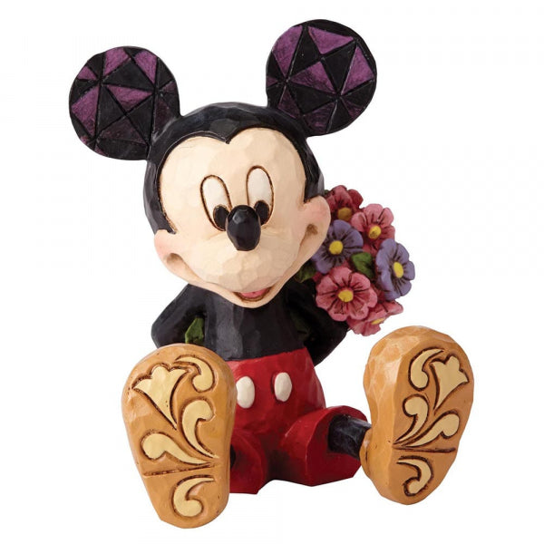 Mickey Mouse with Flowers Mini Figurine | Presentimes