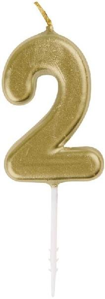 GOLD PICK BIRTHDAY CANDLE | Presentimes