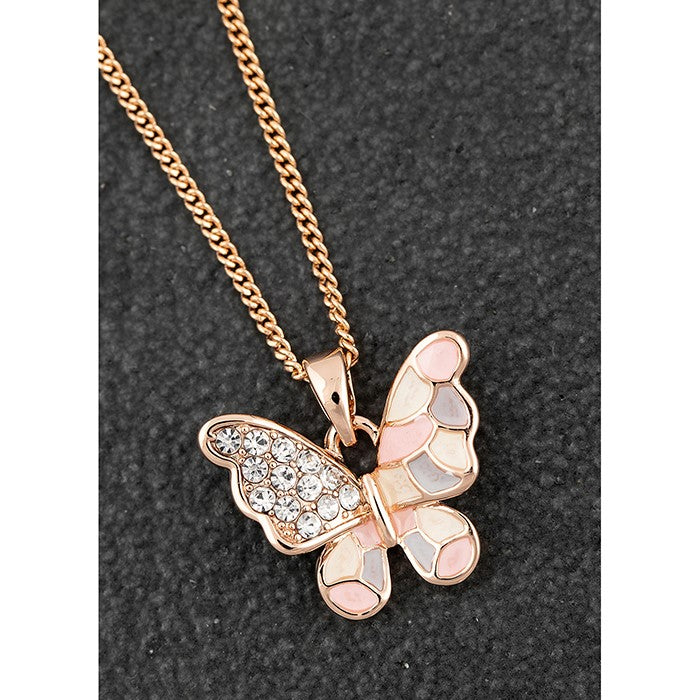 Handpainted Sparkle Butterfly Necklace | Presentimes