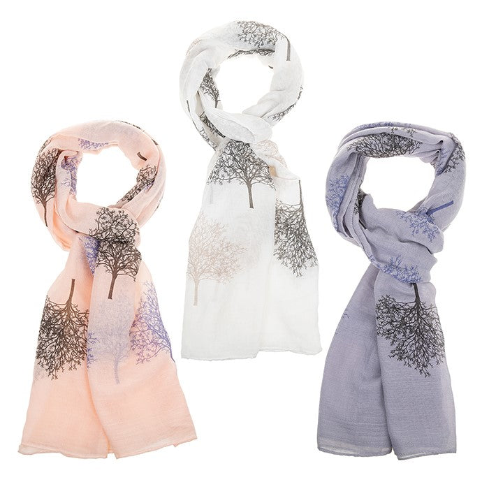 Two Tone Tree of Life Printed Scarf | Presentimes