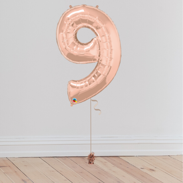 <b> 6 COLOURS AVAILABLE </b><br>Giant Number Balloon (Inflated with Helium & Weight Included) | Presentimes