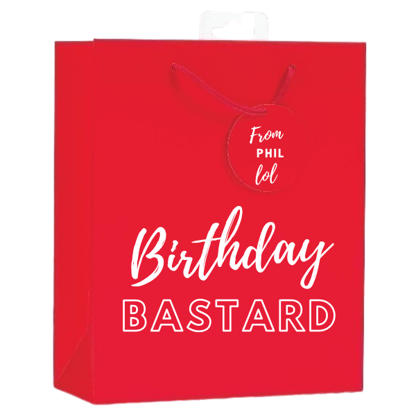 <b> NEW! <br> 11 COLOURS AVAILABLE </b><br> Personalised Gift Bag <br> (FREE Tissue Paper Included) | Presentimes