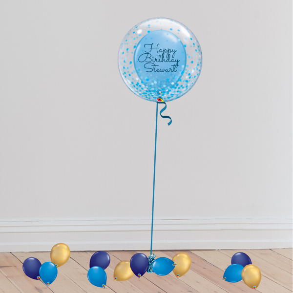 Personalisable Deco Bubble Balloon (Inflated with Helium & Weight Included) | Presentimes