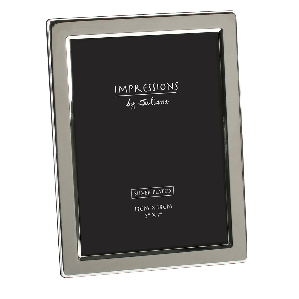 "Impressions Silver Plated Photo Frame Flat Edge - 5"" x 7"" 