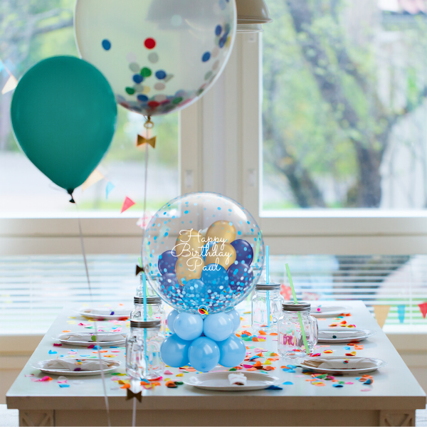 "24"" Table Top Personalised Gumball Topper Balloon 