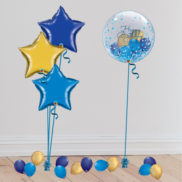 Personalisable Gumball Bubble Balloon (Inflated with Helium & Weight Included)<br> 8 COLOURS AVAILABLE | Presentimes