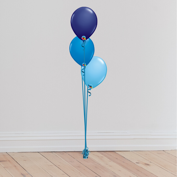 3 Latex Balloon Bouquet Trio (Inflated with Helium & Weight Included) | Presentimes