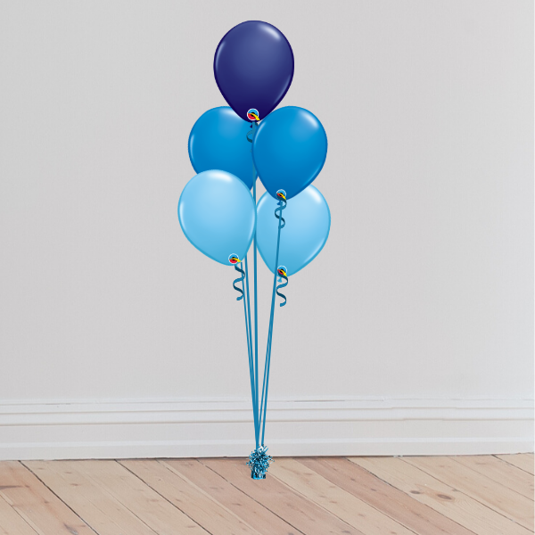 5 Latex Balloon Bouquet (Inflated with Helium & Weight Included) | Presentimes
