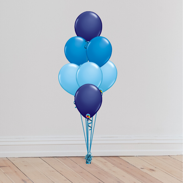 7 Latex Balloon Bouquet (Inflated with Helium & Weight Included) | Presentimes