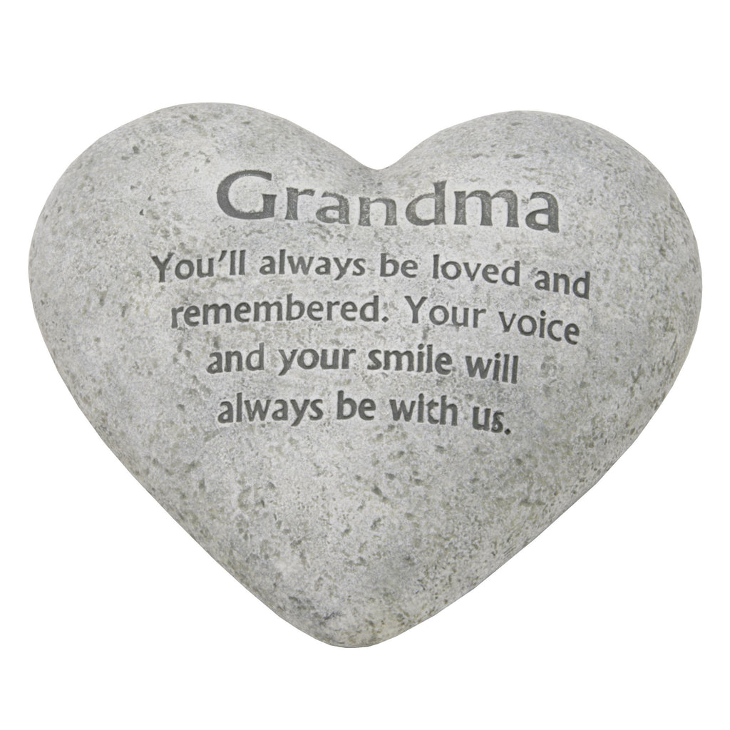 "Graveside Memorial Heart Plaque Ant.Stone ""Grandma"" 
