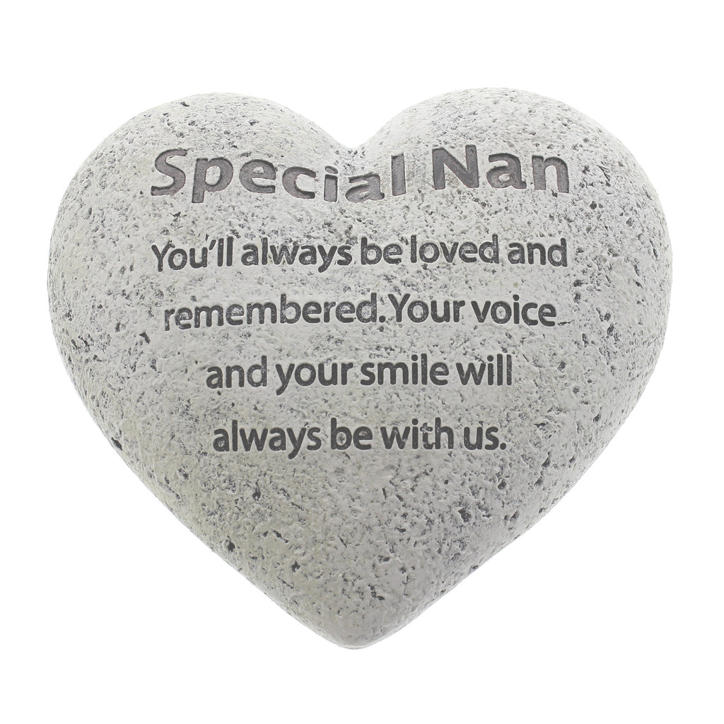 Graveside Memorial Heart Plaque Ant.Stone 'Special Nan' | Presentimes