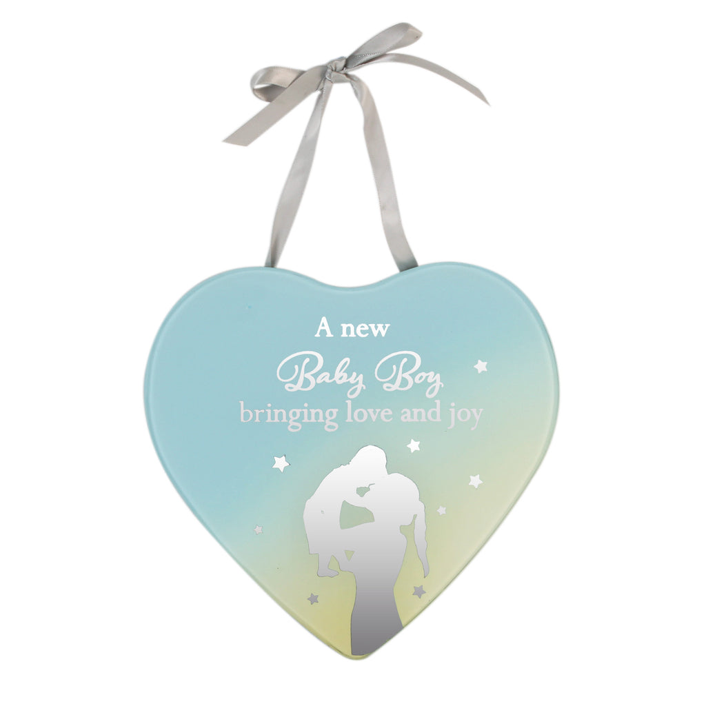 **MULTI 6**Reflections Of The Heart Mirror Plaque - Baby Boy | Presentimes