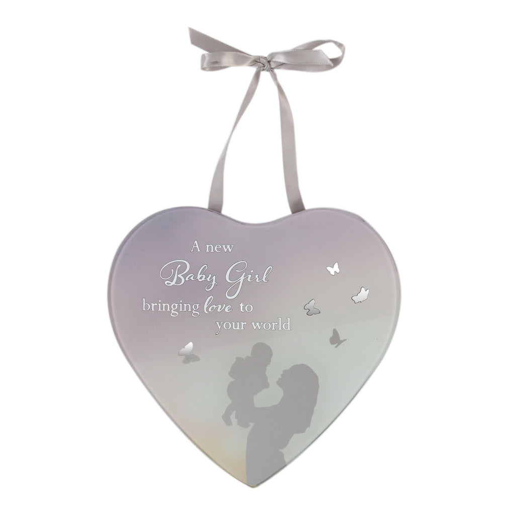 **MULTI 6** Reflections Of The Heart Mirror Plaque Baby Girl | Presentimes