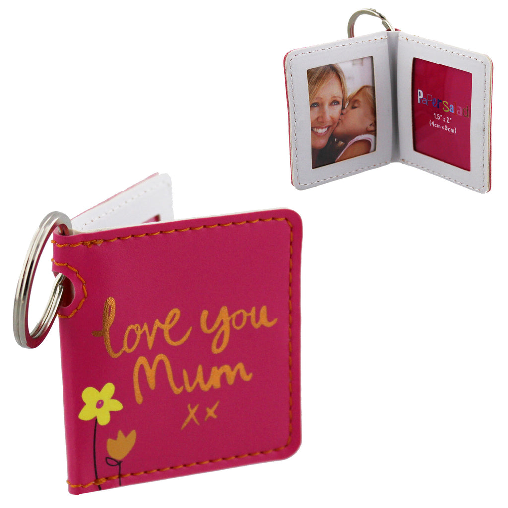 Paper Salad Pink PU Keyring - Love You Mum | Presentimes