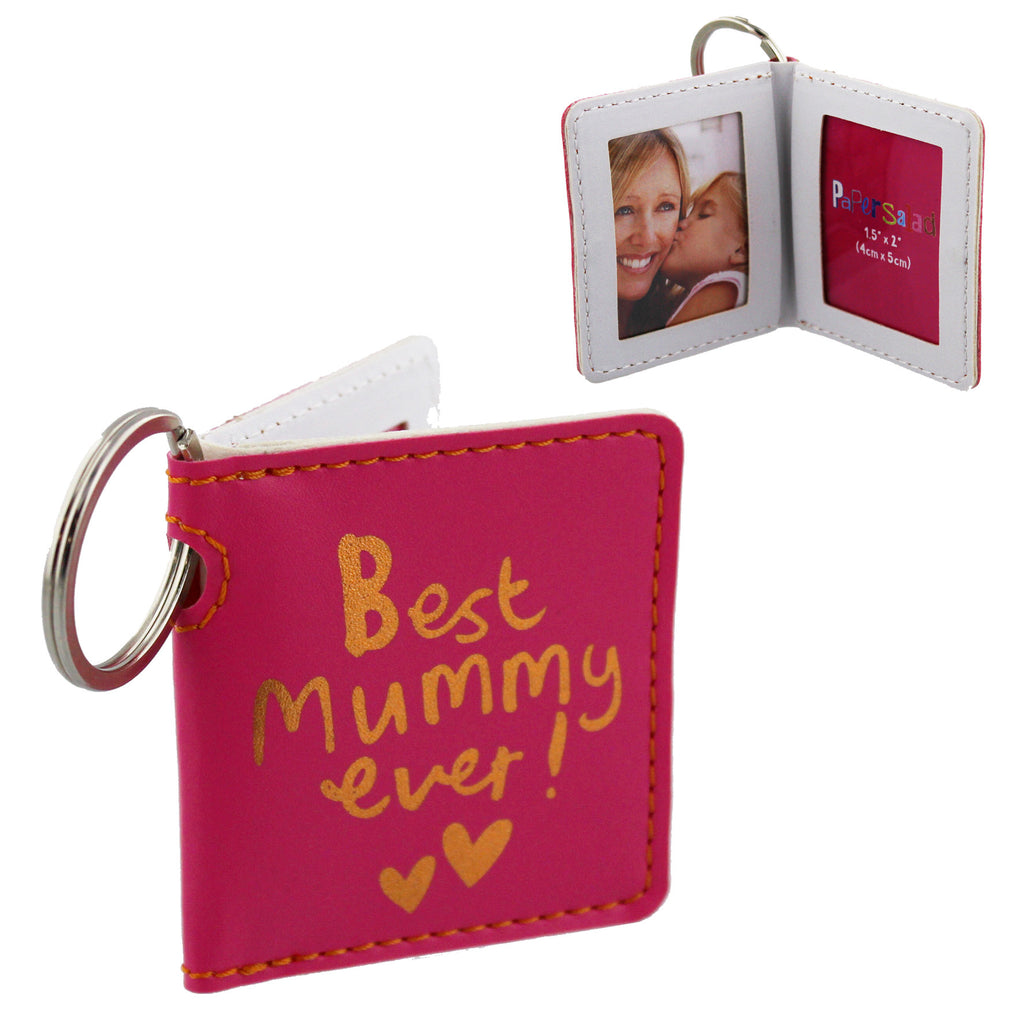 Paper Salad Pink PU Keyring - Best Mummy Ever | Presentimes