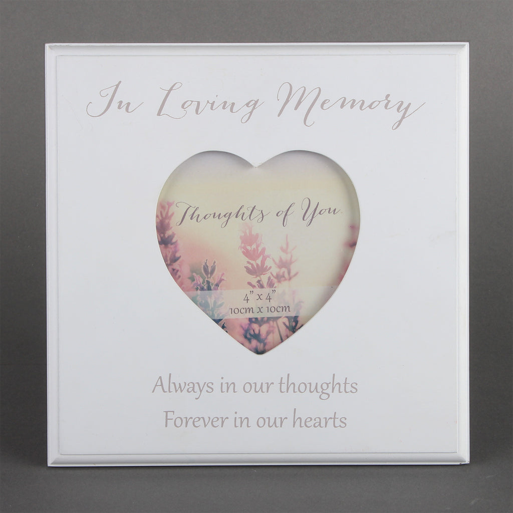 Thoughts Of You MDF Heart Frame - Loving Memory | Presentimes