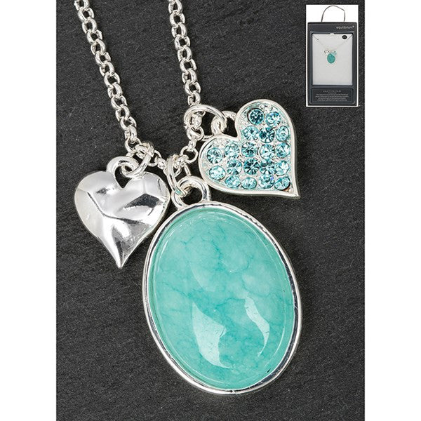 EQ SP Amazonite And Hearts Necklace | Presentimes