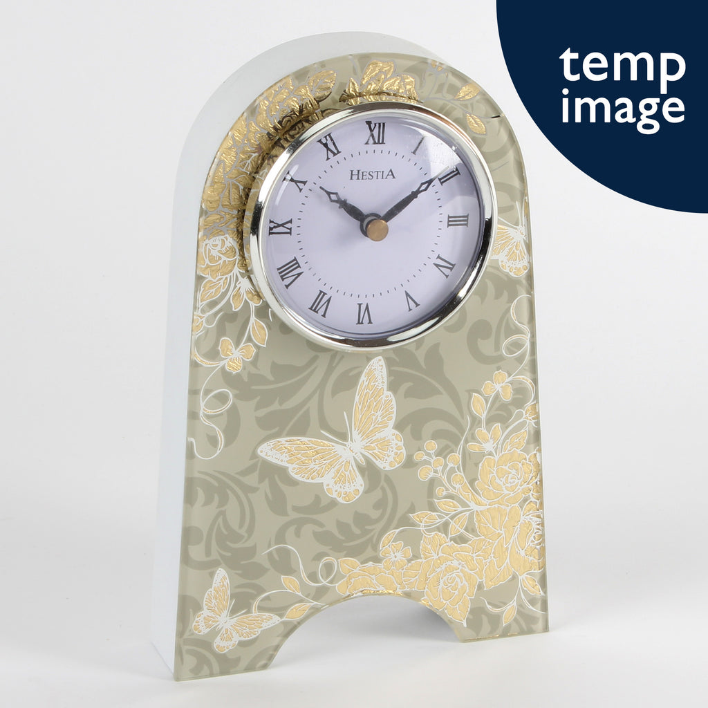 Sophia Gold Rose Collection Mantel Clock | Presentimes