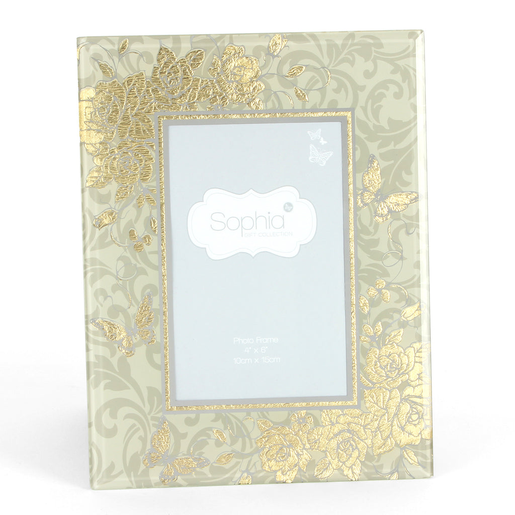 "Sophia Gold Rose Collection Photo Frame 4"" x 6"" 