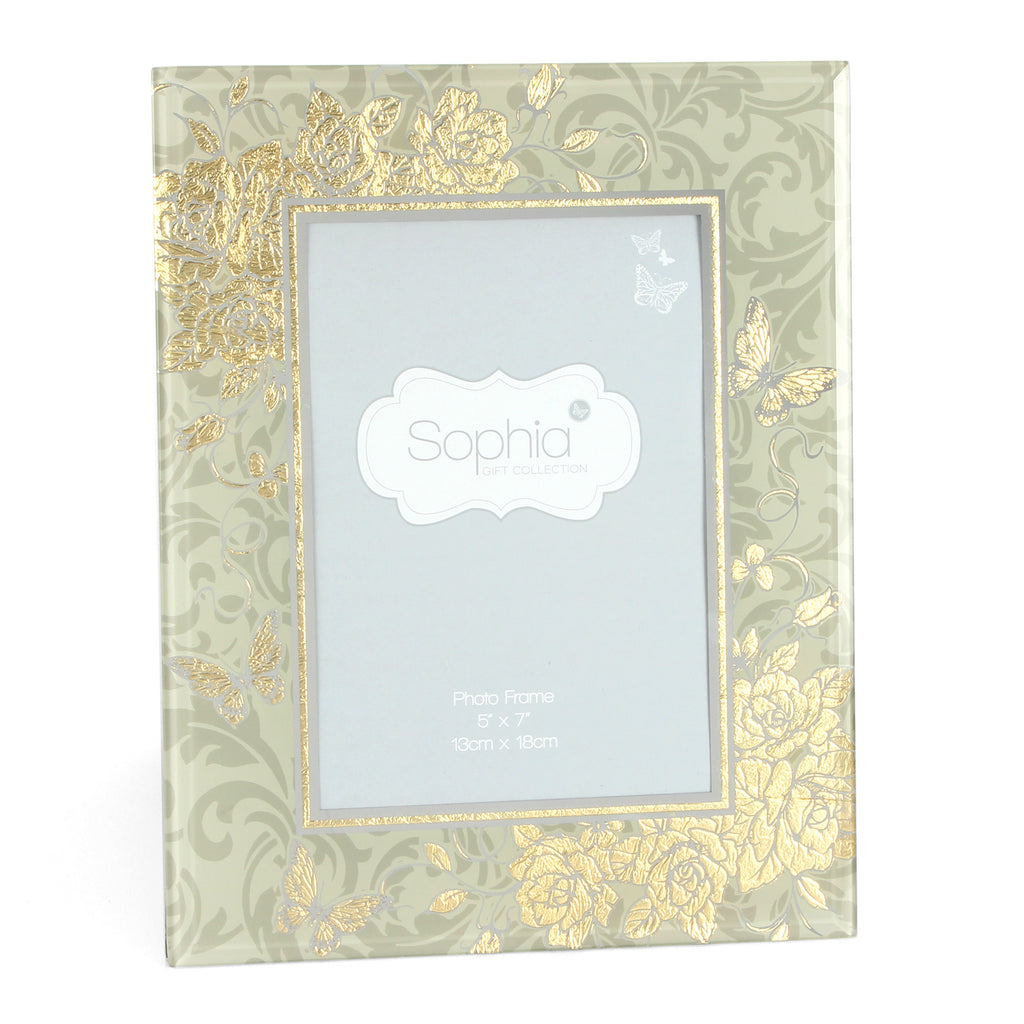 "Sophia Gold Rose Collection Photo Frame 5"" x 7"" 