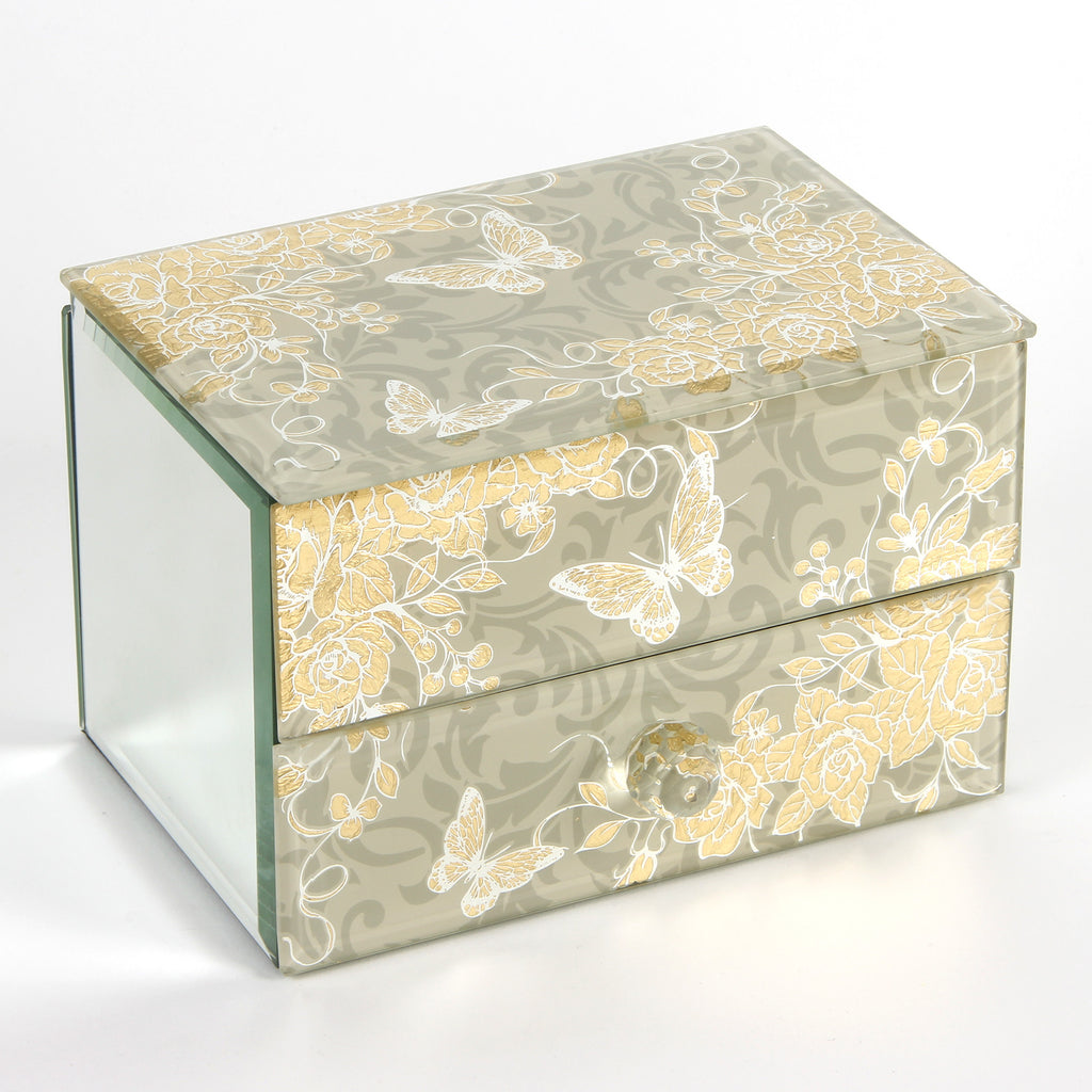 Sophia Gold Rose Collection Jewellery Box 1 Drawer | Presentimes