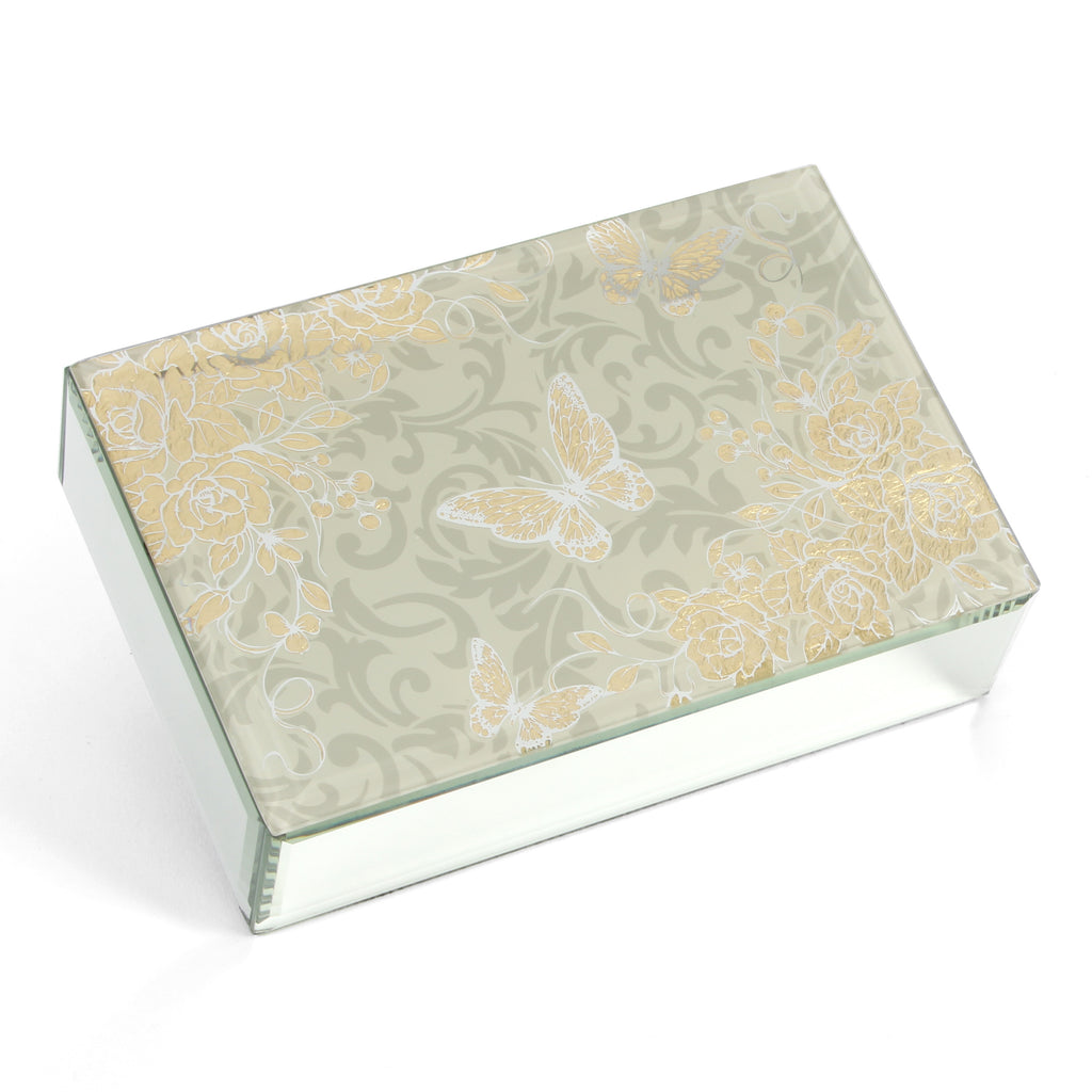 Sophia Gold Rose Collection Jewellery Box | Presentimes