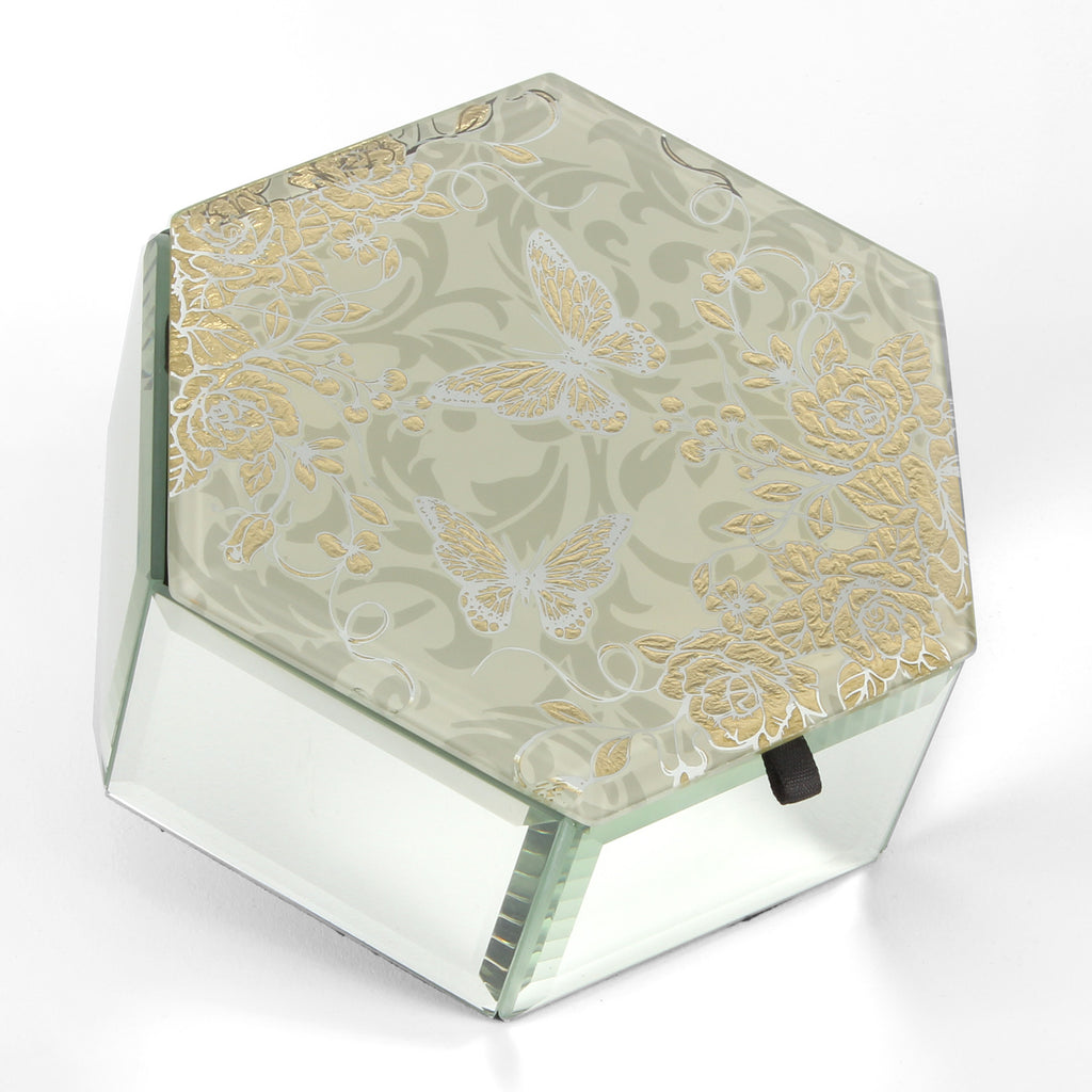 Sophia Gold Rose Collection Trinket Box | Presentimes