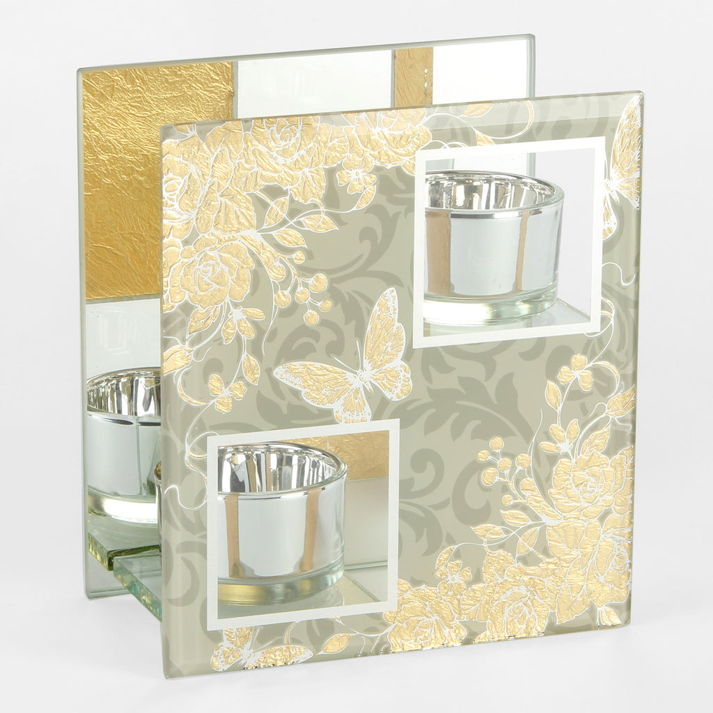 Sophia Gold Rose Collection Double T Lite Holder | Presentimes