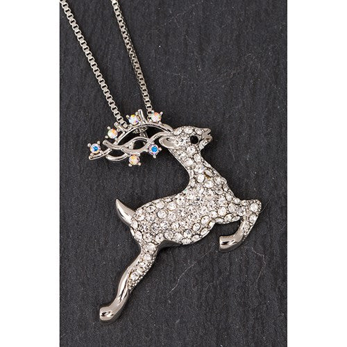 Eq Leaping Reindeer Necklace | Presentimes