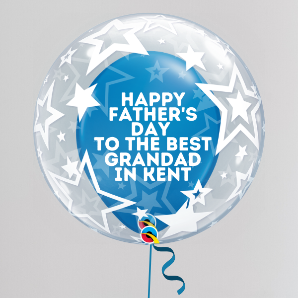 Best Grandad in Kent Father's Day Deco Bubble Balloon (Inflated with Helium & Weight Included) | Presentimes