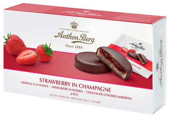 Anthon Berg Strawberry Champagne | Presentimes