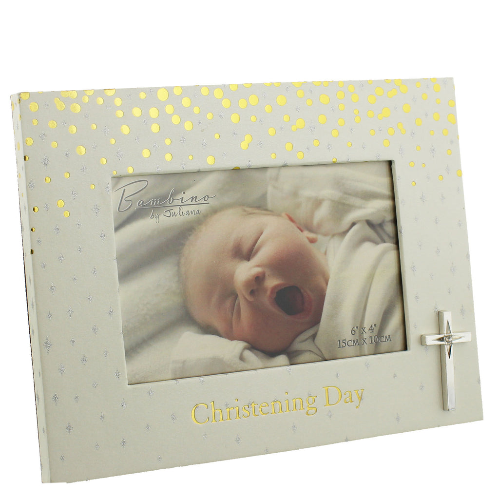 "Bambino Christening Photo Frame ""Christening Day"" 6"" x 4"" 
