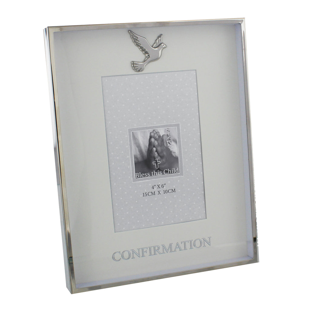 "Juliana Nickel Plated Photo Frame 4"" x 6"" Confirmation 