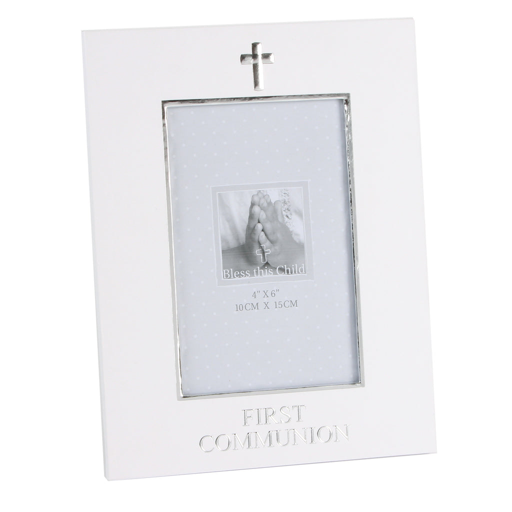 "Juliana Paperwrap Photo Frame 4"" x 6"" First Communion 