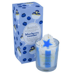Blueberry Sundae Piped Candle | Presentimes